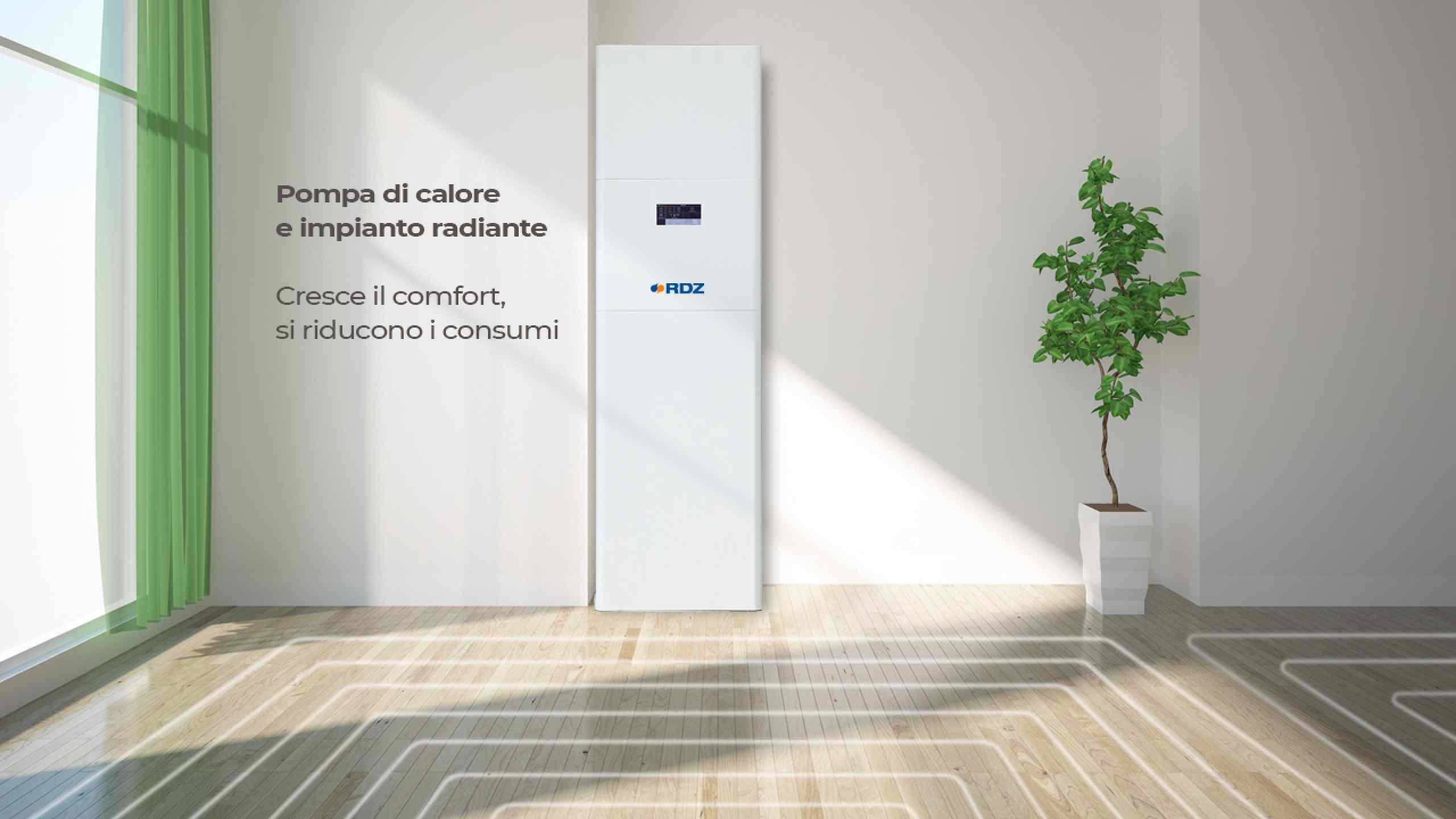 Riscaldamento A Pavimento Consumi pompa di calore e impianto radiante: cresce il comfort, si