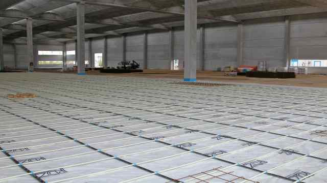 Underfloor heating with Modulbarra System.