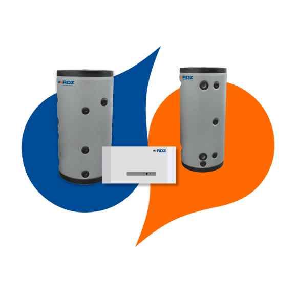 Accumuli ACS e tecnici per PDC monoblocco e splittate
